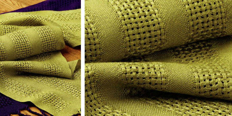 Weekend Weaving: Huck Lace and Tencel Scarf