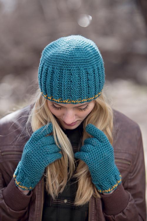 Hudson Gloves with Crochet Hudson Hat