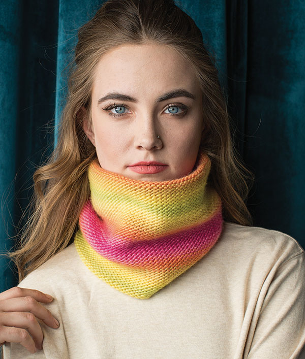 one of three simple tube cowls from knitscene Fall 2018