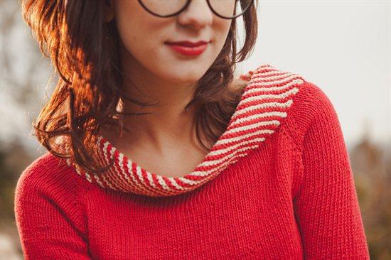 Seberg Sweater Mercedes Tarasovich-Clark Knitscene
