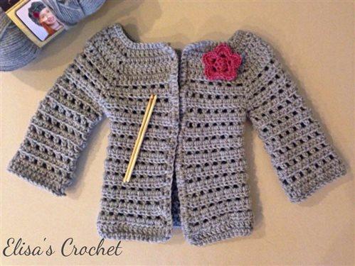 Crochet Baby Girl Cardigan Interweave