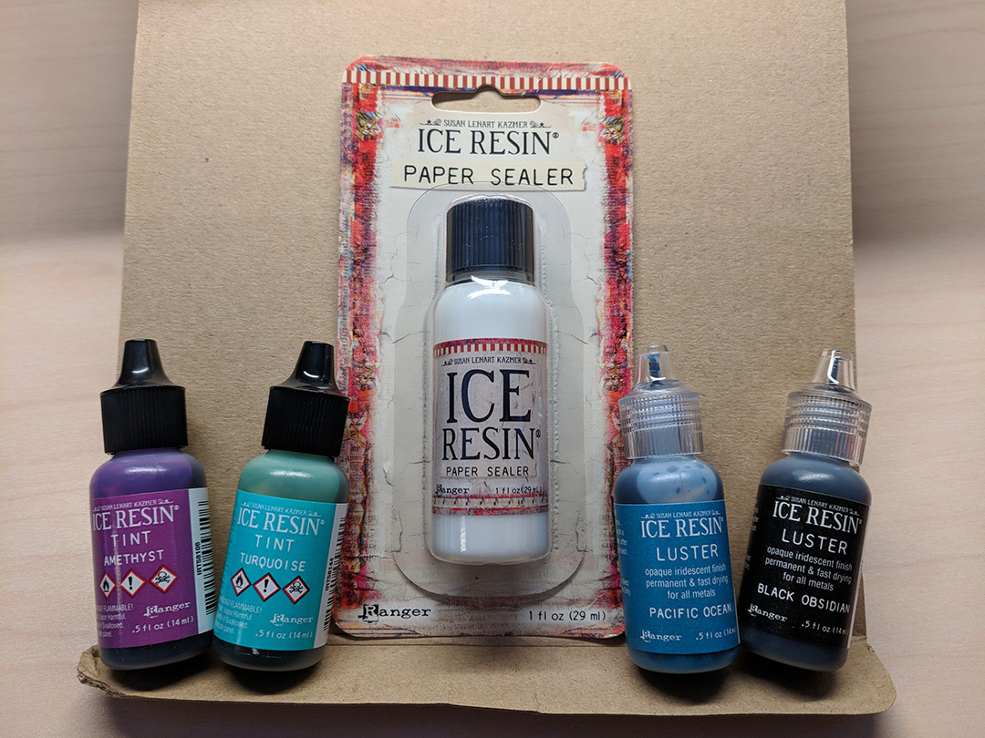 ICE Resin paper sealer, tints, and lusters are on my list to play with next.