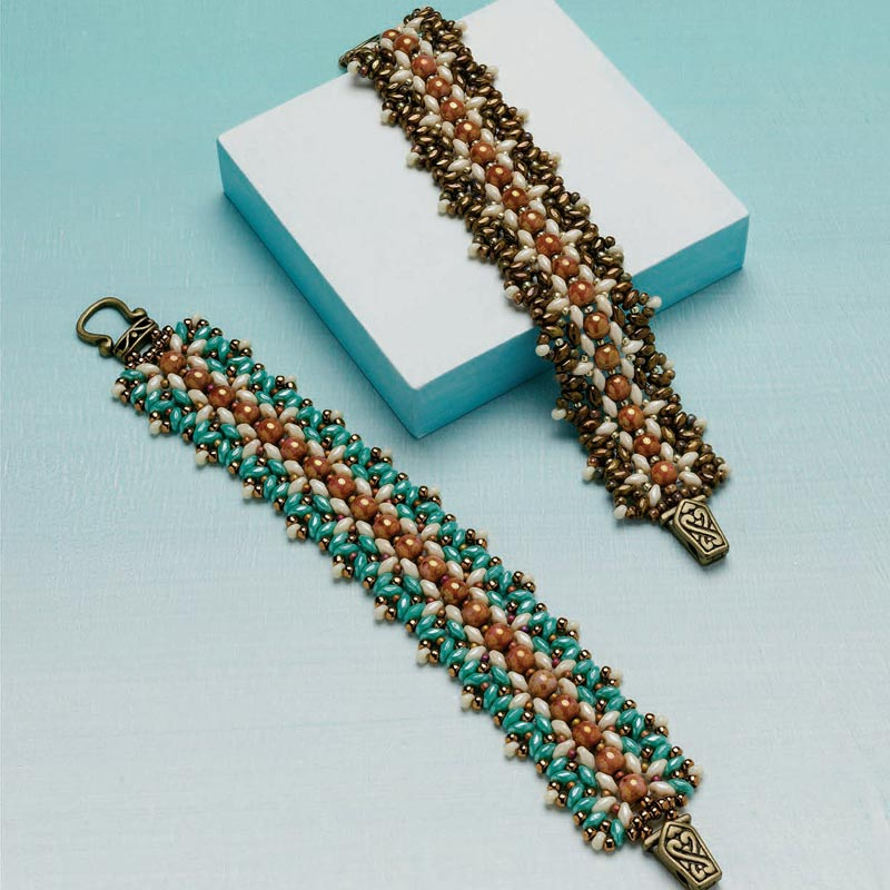 5 star pattern collection, Indian Summer bracelet beading pattern