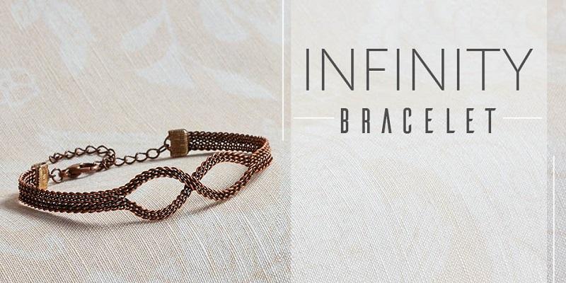 <i>Kumihimo Wirework Made Easy:</i> Infinity Bracelet