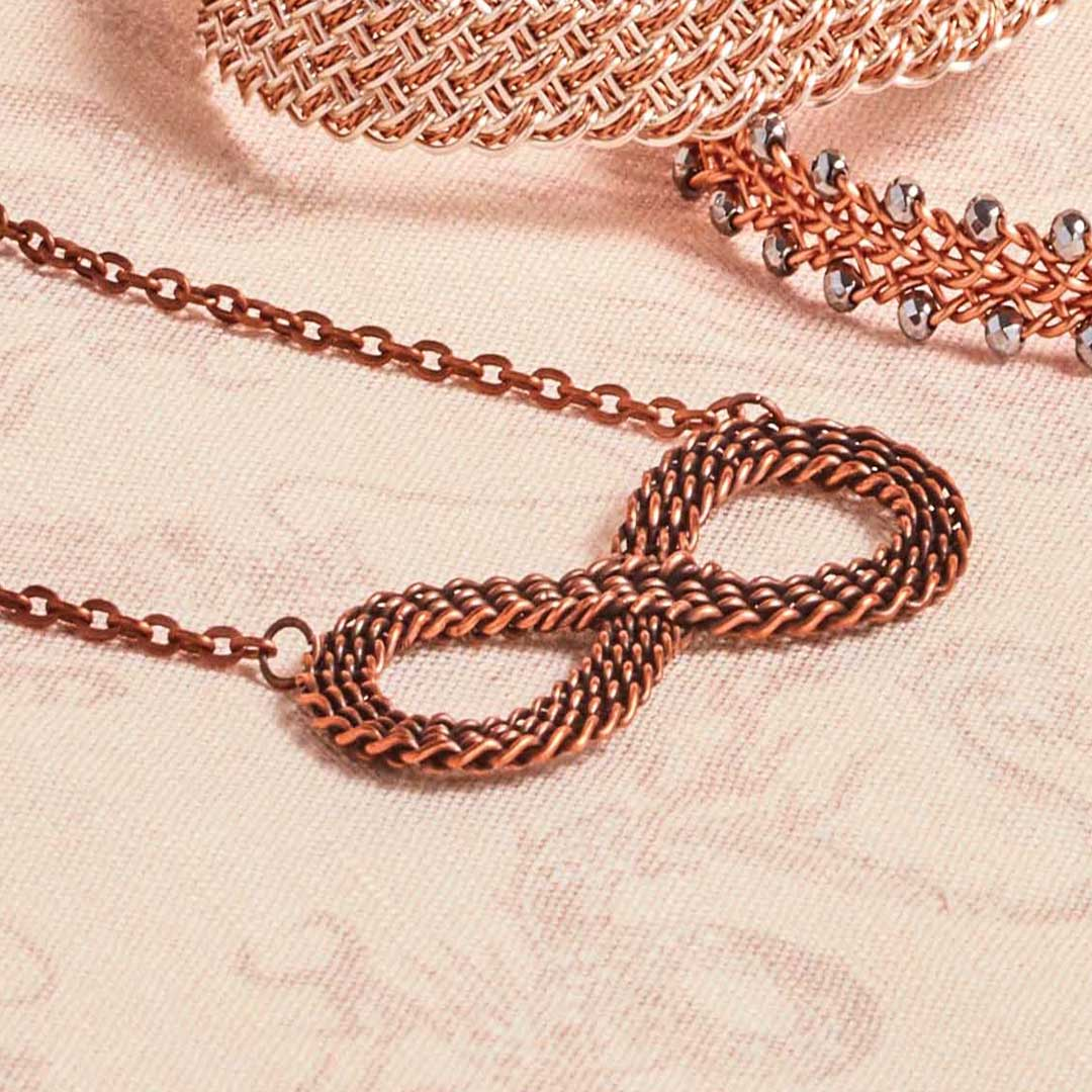Kumihimo Wirework Made Easy: Infinity Necklace