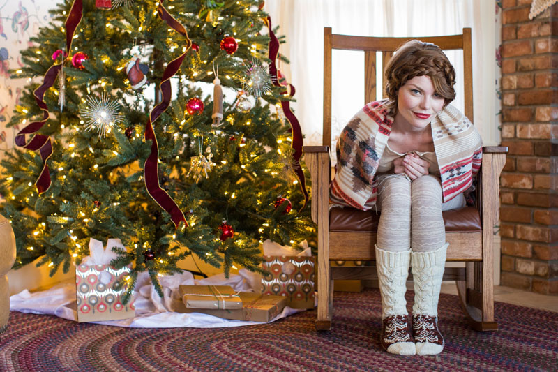 Moccasocks, pattern featured in Interweave Knits Holiday 2016
