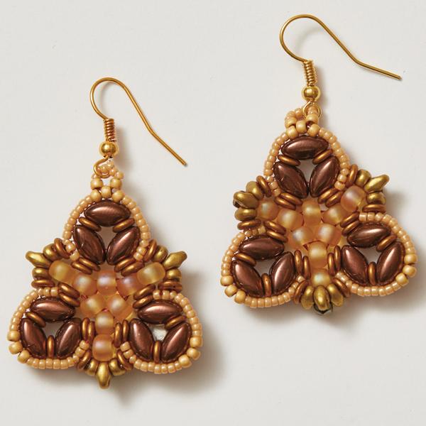 Irisbell Earrings Gold Colorway