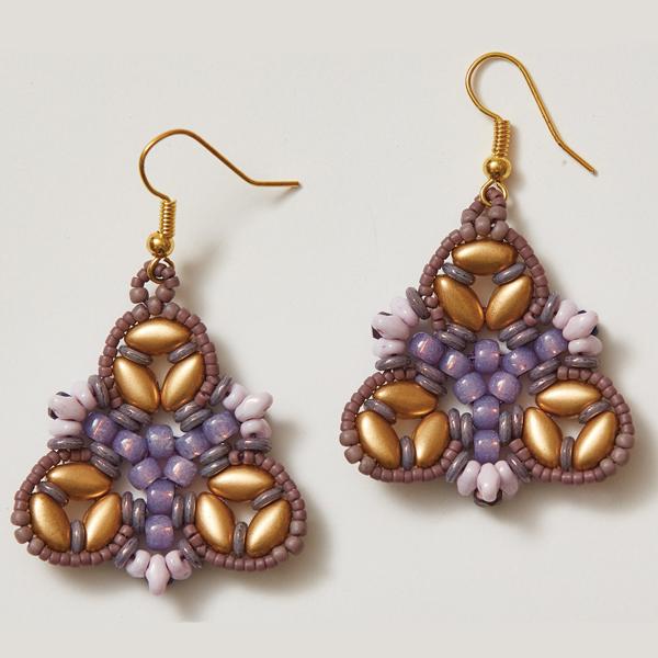 Irisbell Earrings Purple Colorway