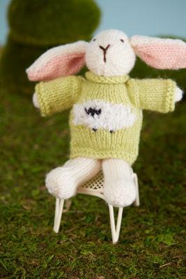 Bunny Girl knitting pattern from Love of Knitting Toys by Sachiyo Ishii