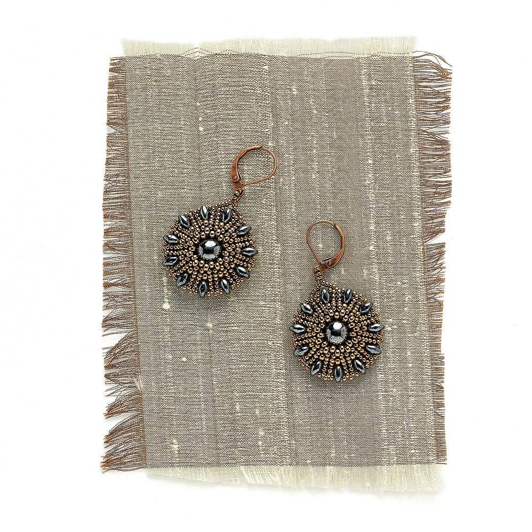 Heliotrope Earrings by Reem Iverson