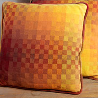 Summer and winter pillows by Sarah Jackson