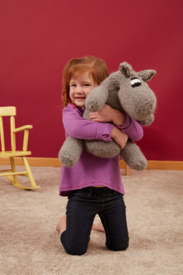 Hipponormous knitting pattern from Love of Knitting Toys by Lisa Jacobs