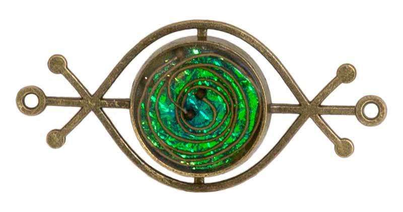 ICE Resin Jewelry Wire Swirl Pendant