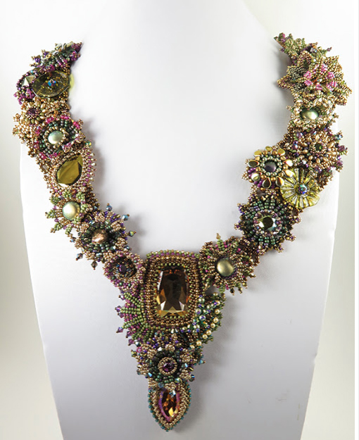 """""""Journey,"""" by Marcia DeCoster. A bead experience that yielded a magnificent design."""