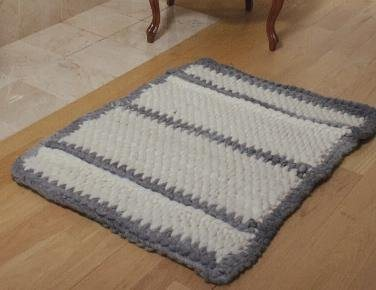 The Big Softie Tunisian Crocheted Rug As Seen On Episode 303