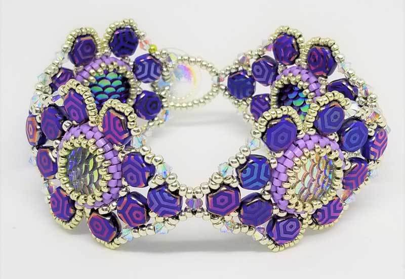 Lisa Krupp-Dooley's 2-in-1 Bracelet is reversible, and a knockout either way. Made with honeycomb beads and Swarovski crystals.