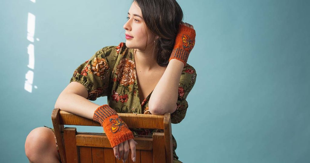 Pattern of the Week: Butterfly Mitts