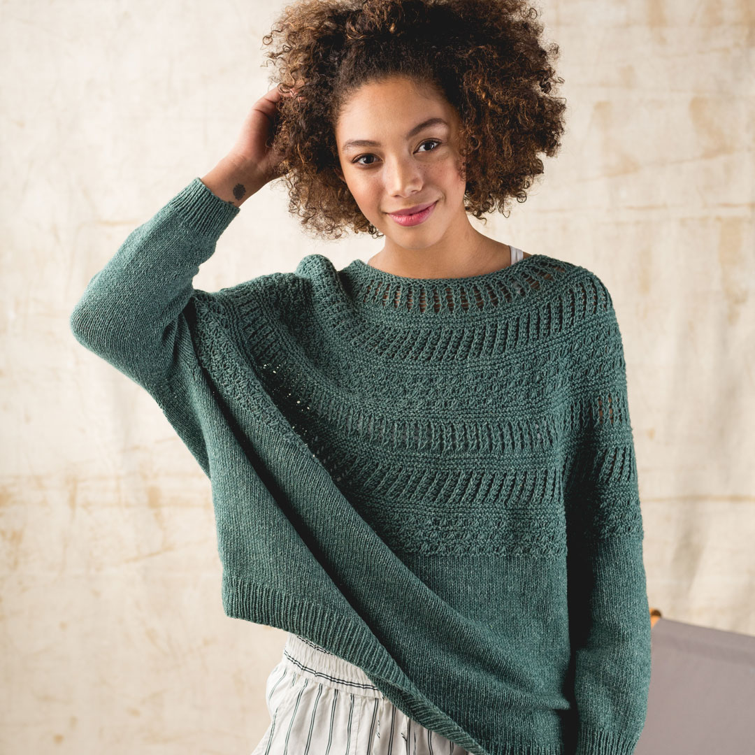 The Kalaloch Pullover is a sweater knitting pattern for all seasons, but especially for fall knitting.
