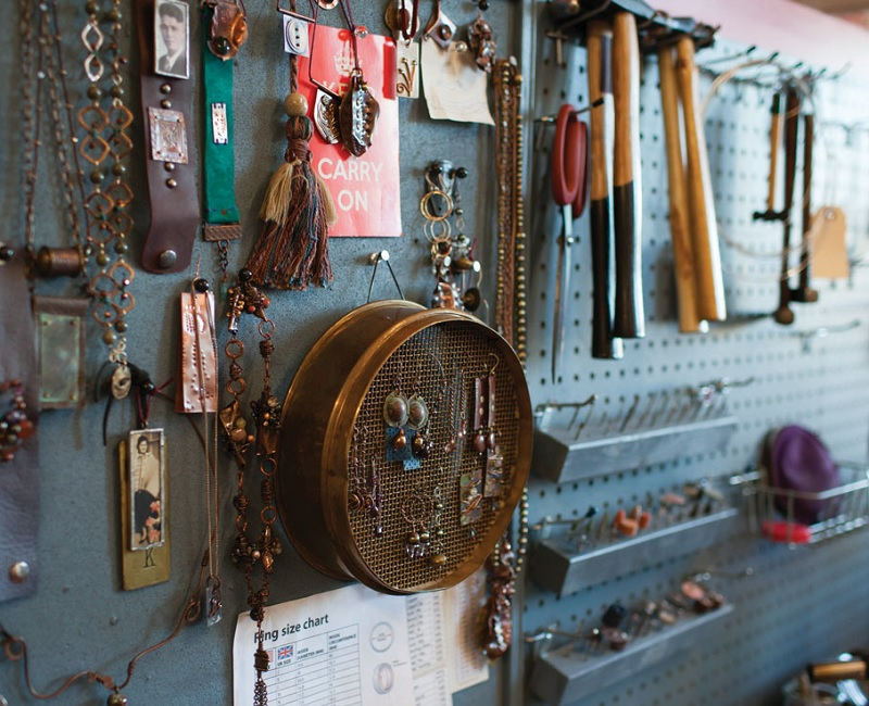 Kate Richbourg's metal jewelry-making and soldering studio #solderlikealady