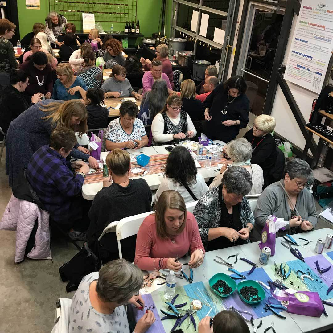 Beads of Courage HQ – a room filled with love, jewelry making, and beads!