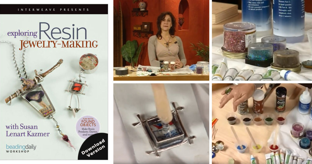 learn ICE resin jewelry techniques with Susan Lenart Kazmer
