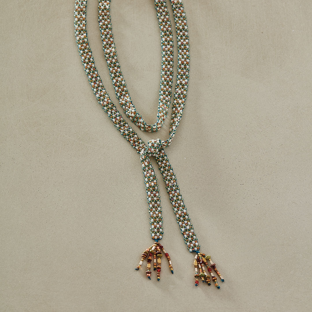 Cindy Kinerson's Garden Party Loomed Lariat