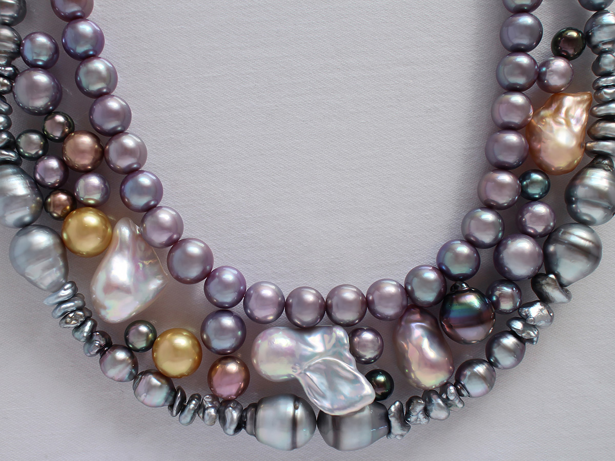 For many years—centuries perhaps—dark-colored, misshapen pearls like these would have been ignored because they weren't round and white. But who can deny their beauty today? Photo Betty Sue King. Courtesy Betty Sue King, King's Ransom.