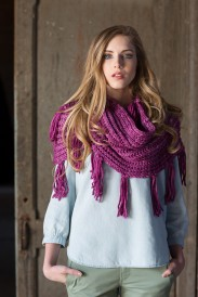 Brioche stitch scarf from KnitScene magazine.