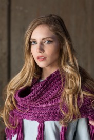 Brioche stitch knitted scarf from KnitScene magazine.