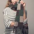 Buffalo Checks Scarf Knitting Pattern