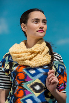 Cirrus Cowl knitting pattern in knitscene Fall 2016