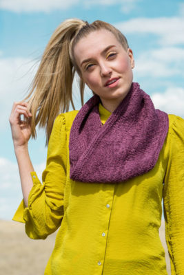 Empyrean Cowl knitting pattern in knitscene Fall 2016