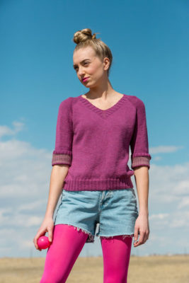 Firmament Sweater knitting pattern from knitscene Fall 2016