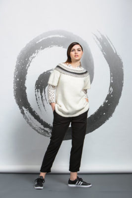 Fude Tee Knitting Pattern from knitscene Fall 2016