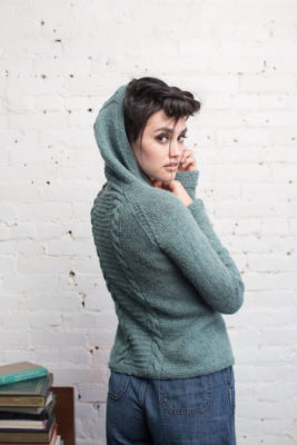 Alice Hoodie knitting pattern from knitscene Fall 2016