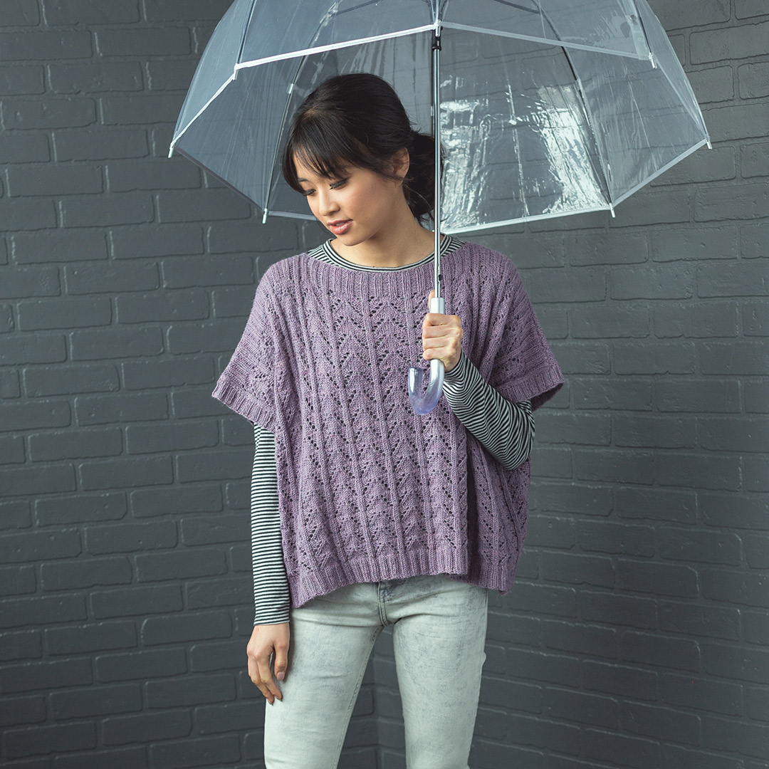 The Riprap top is a wonderful transitional weather knitting pattern for fall.