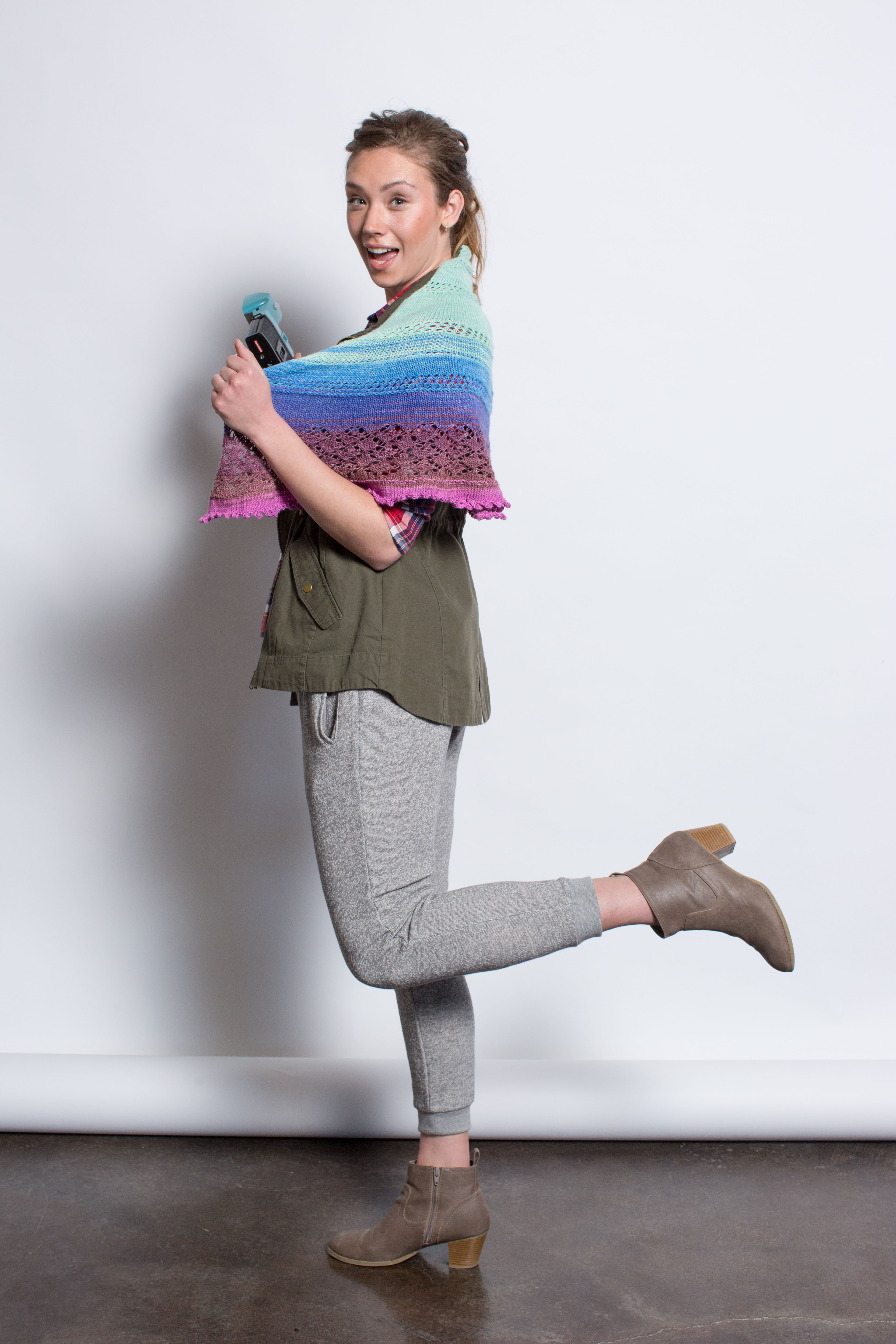 If you like knitted shawls, then you'll LOVE this amazing shawl knitting pattern titled Spirit Lake Shawl that involves long-striping yarn and more!