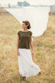 linum tee, knit tops for summer knitting