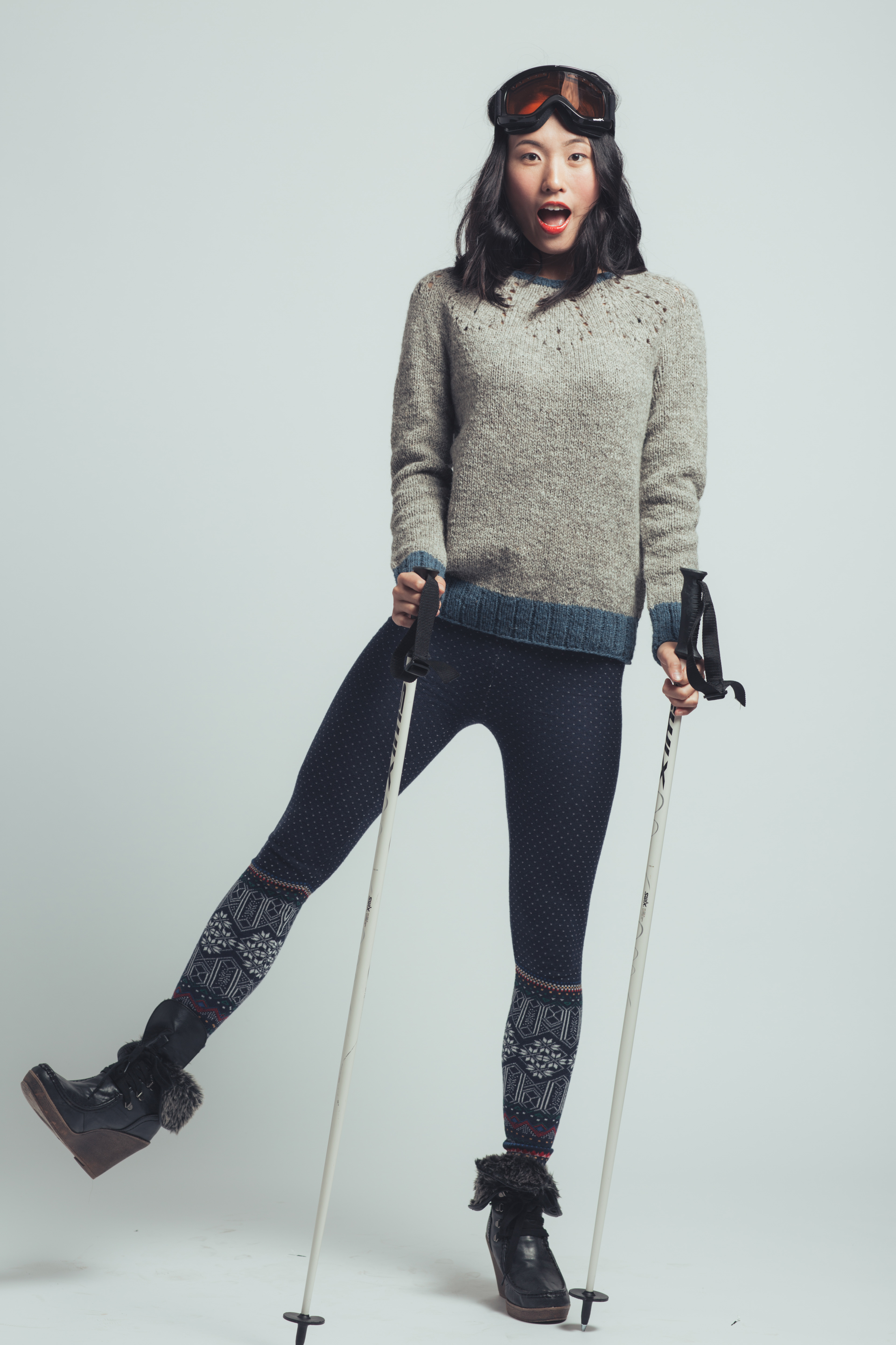 Slopes Pullover by Jesie Ostermiller from knitscene Winter 2016