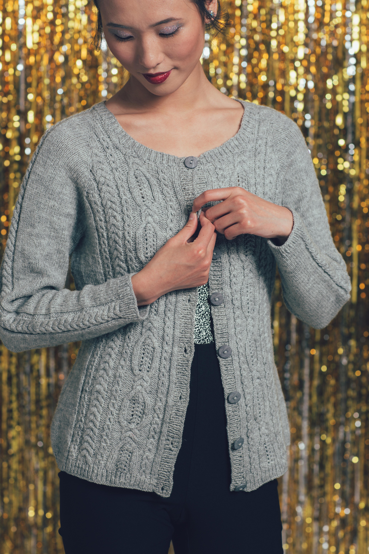 Fête Cardigan knitting pattern by Cheryl Chow from knitscene Winter 2016