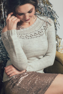 Banquet Sweater knitting pattern by Kiri FitzGerald-Hillier from knitscene Winter 2016