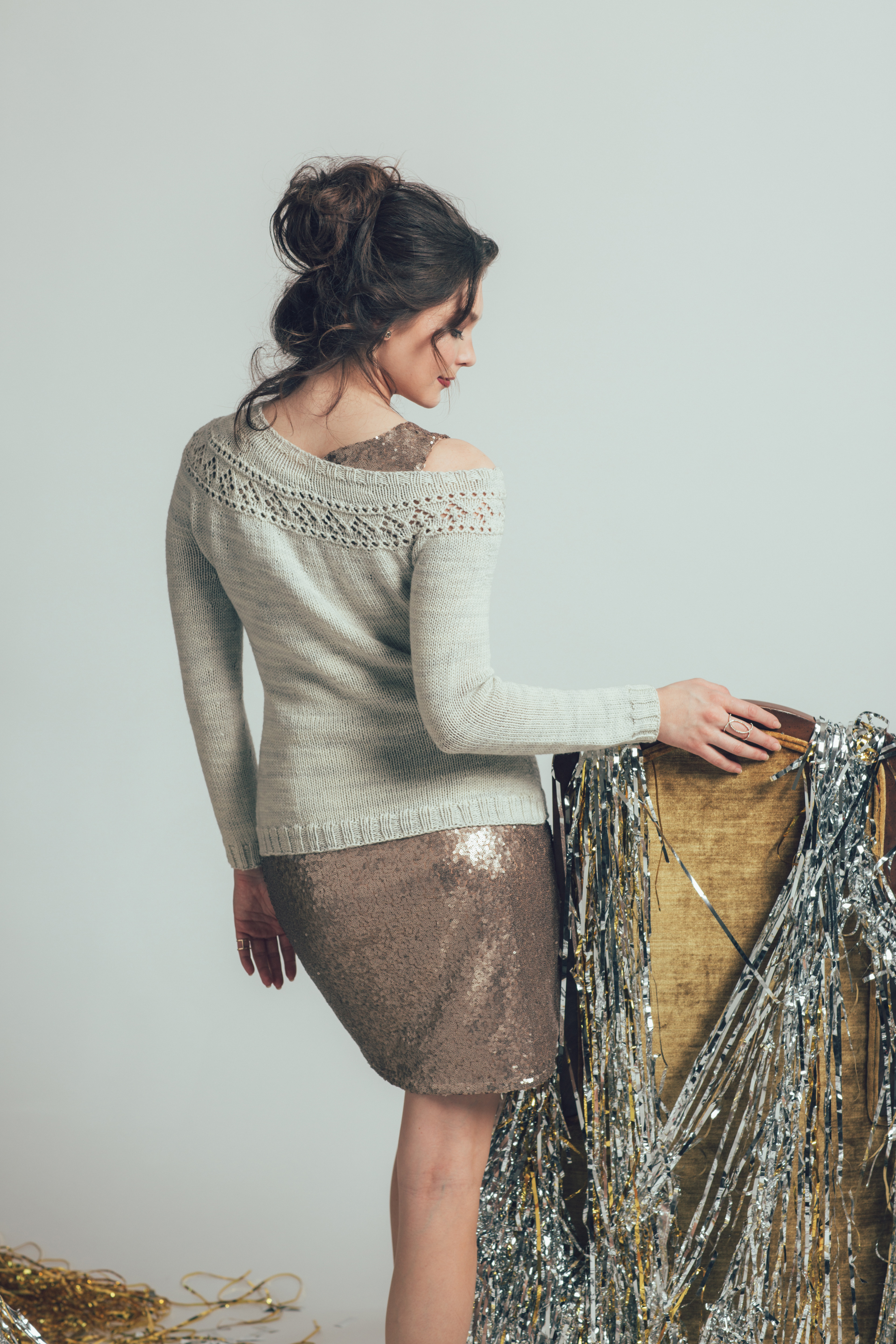 Banquet Sweater knitting pattern by Kiri FitzGerald-Hillier from knitscene Winter 2016