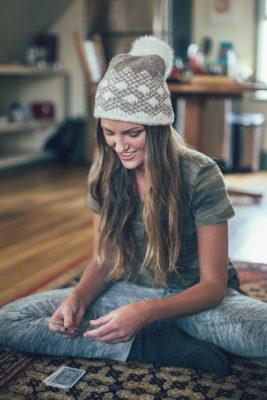 Macaroon Hat knitting pattern by Amy Palmer from knitscene Winter 2016