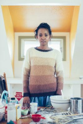 Hot Cocoa Sweater knitting pattern by Shaina Bilow from knitscene Winter 2016