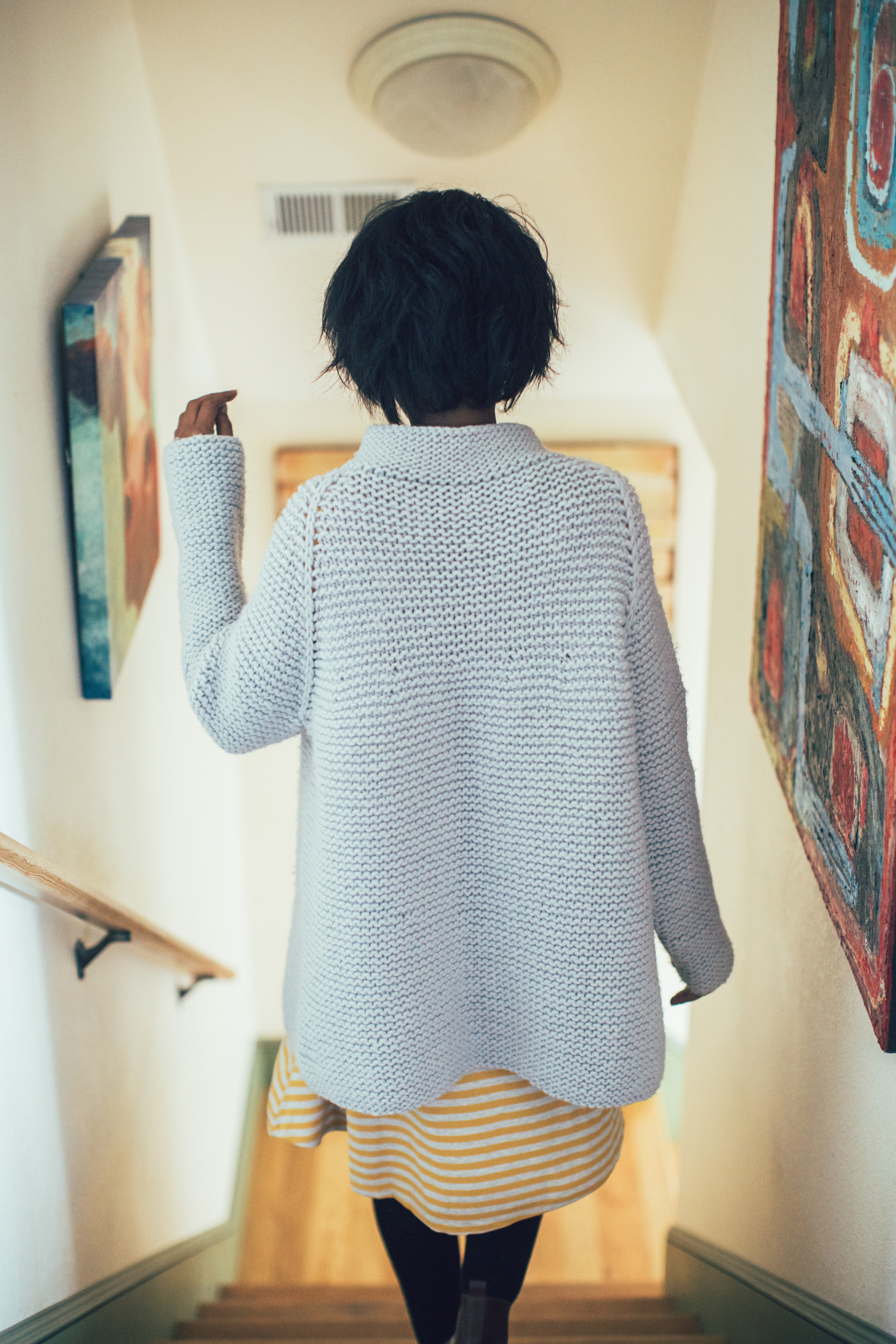 Vanilla Jacket knitting pattern by Mary Anne Benedetto from knitscene Winter 2016