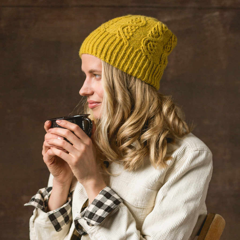The Firefall Toque from Interweave Knits Fall 2019.