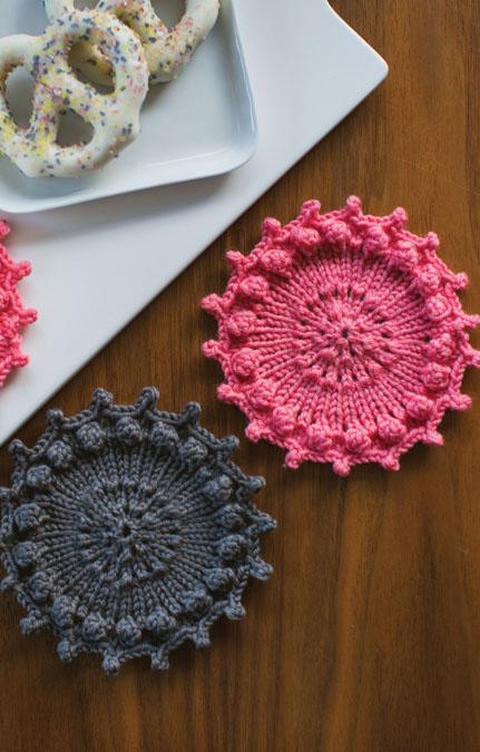 knit coaster set