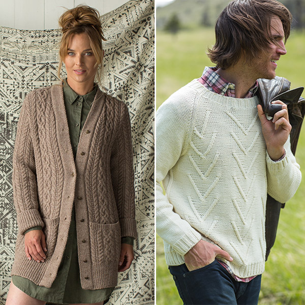 af0a62e43 Check out the Spring 2018 issue of Interweave Knits for a variety of unisex sweater  patterns sure to please the couple! My favorites are the Clear Creek ...