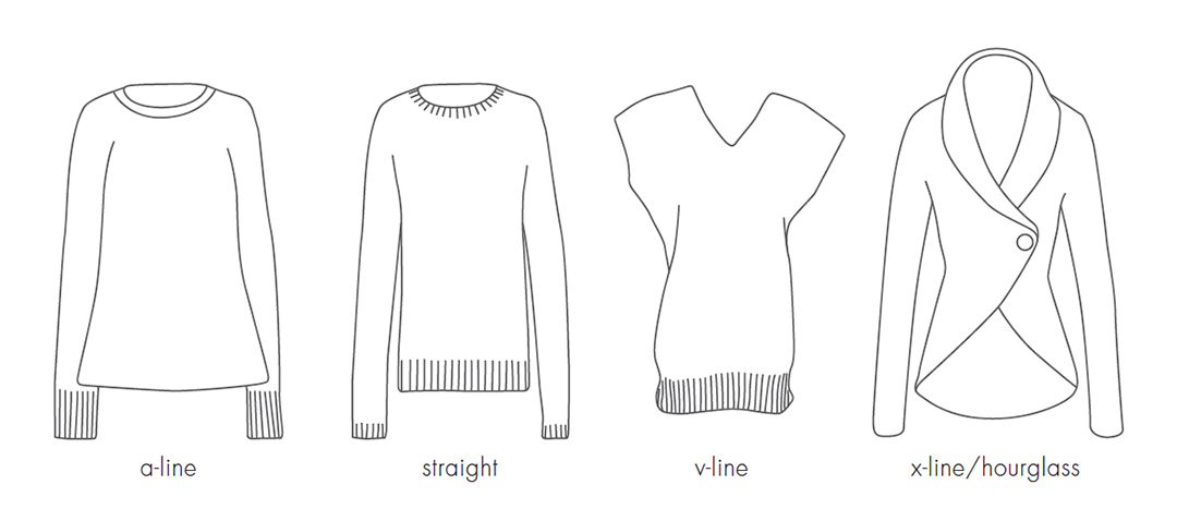 Sweater Silhouettes, graphic ©F+W Media, Inc.