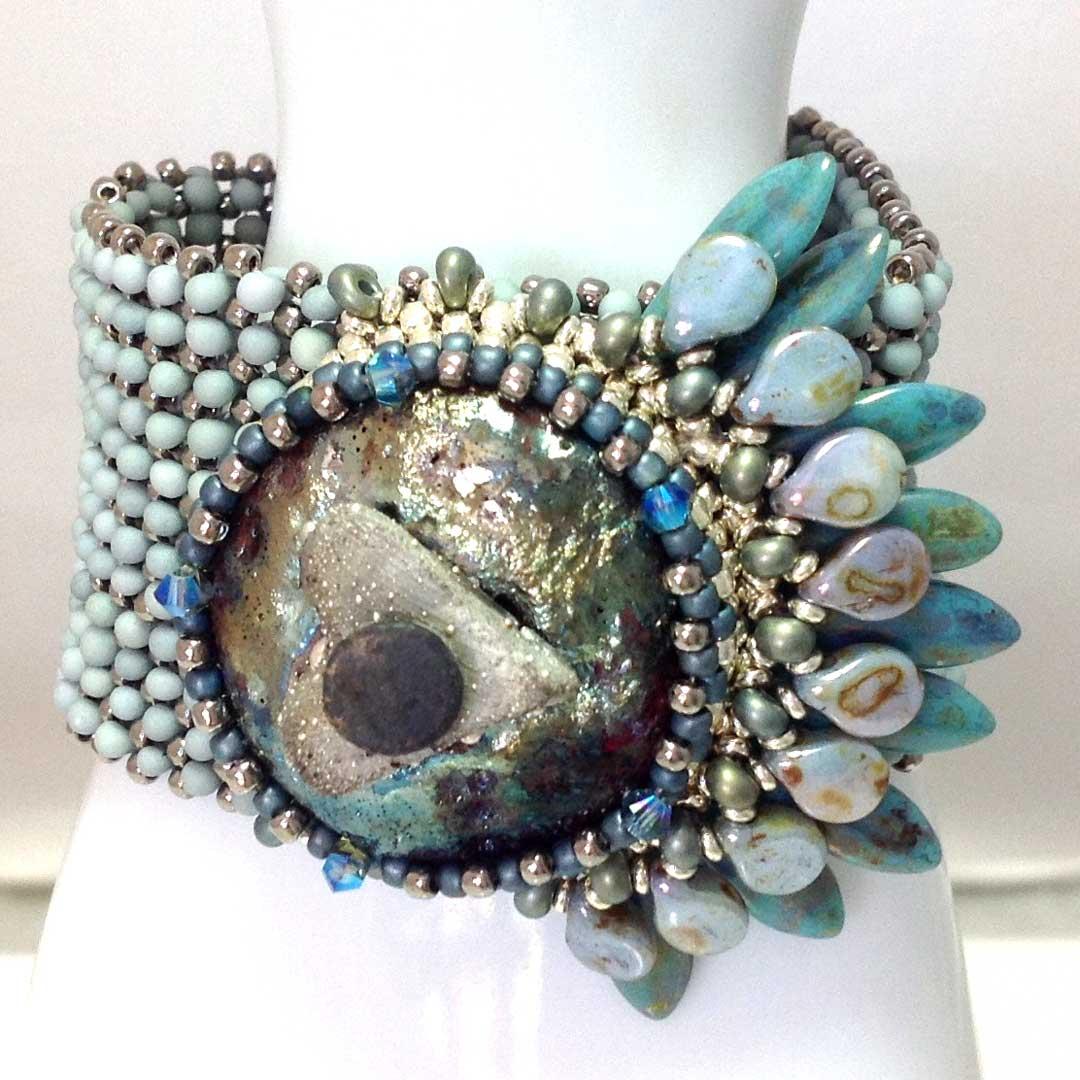 Kim Leahy's Warrior Bracelet at Bead Fest